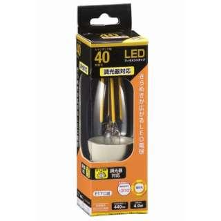 LDC4L-E17/D C6 LEDフィラメント電球 クリア [E17 /電球色 /1個 /40W相当 /シャンデリア電球形 /全方向タイプ]