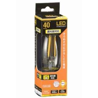 LDC4L/D C6 LEDフィラメント電球 クリア [E26 /電球色 /1個 /40W相当 /シャンデリア電球形 /全方向タイプ]