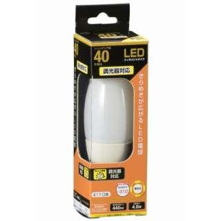 LDC4L-E17/D W6 LEDフィラメント電球 ホワイト [E17 /電球色 /1個 /40W相当 /シャンデリア電球形 /全方向タイプ]