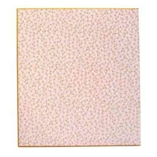 カラー色紙 二つ折り 花柄ピンク