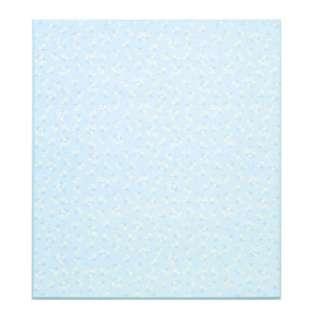 カラー色紙 二つ折り花柄ブルー