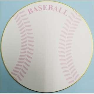 丸型色紙 ベースボール 封筒付