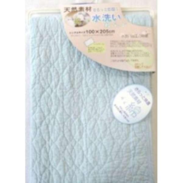 【敷パッド】水洗い敷きパッド セミダブルサイズ(120×205cm/ブルー)