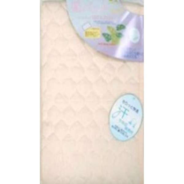 【敷パッド】綿カラー セミダブルサイズ(120×205cm/アイボリー)
