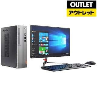 【アウトレット品】 90GB0042JP デスクトップパソコン ideacentre 510S シルバー+ブラック [21.5型 /HDD:1TB /メモリ:8GB /2017年5月] 【生産完了品】