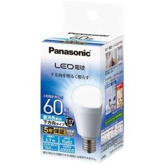 LDA7D-H-E17/E/S/W2 LED電球 小形電球形 ホワイト [E17 /昼光色 /1個 /60W相当 /一般電球形 /下方向タイプ]
