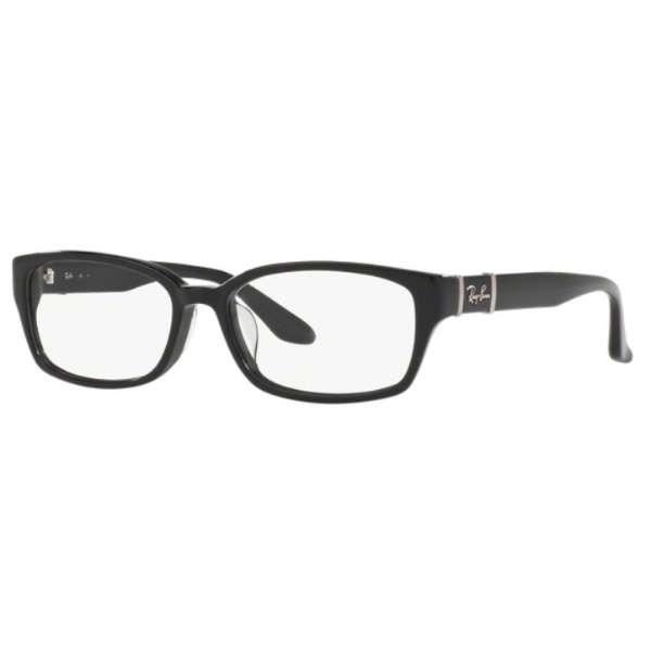 【度付き】RayBan メガネセット(シャイニーブラック)RX5198 2000 53mm[超薄型/屈折率1.67/非球面]