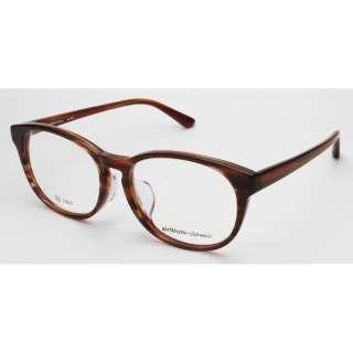 【度付き】airNium-classic メガネセット(ブラウンササ)ac813-1[超薄型/屈折率1.67/非球面]