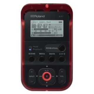 R-07 ICレコーダー レッド [Bluetooth対応 /ハイレゾ対応]