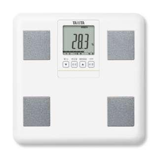 タニタ 体重体組成計 健康管理 お手軽 ダイエット コンパクト 小型   立てかけ収納OK ホワイト BCBI01WH
