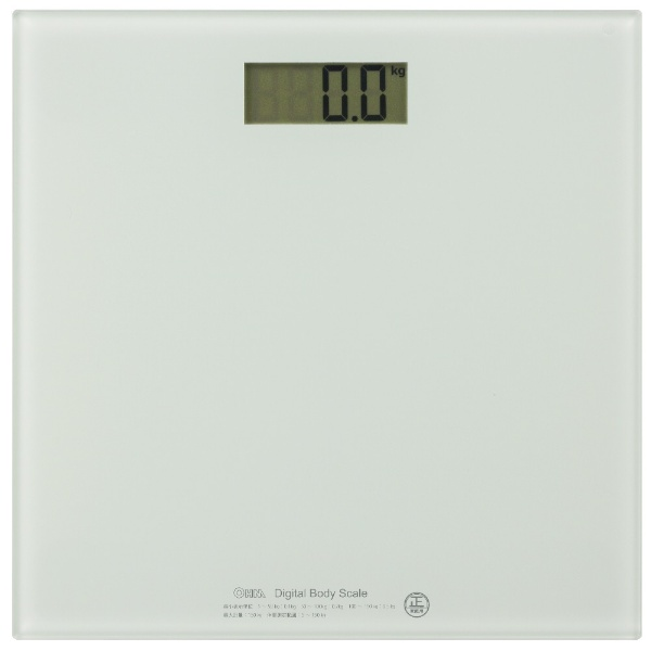 OHM デジタル体重計_HBK-T100-W 08-0065