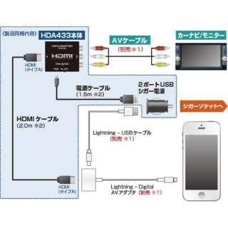 HDMI変換アダプター (iOS: Apple Lightningコネクタ搭載端末用) HDA433-A HDA433-A