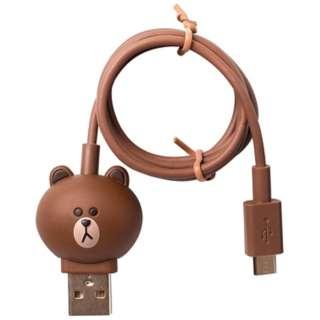 [micro USB]USBケーブル 充電・転送 (1m) KCL-AMC001 ブラウン [1.0m]