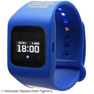 ウェアラブル端末(ウォッチタイプ)北海道日本ハムファイターズ青モデル 「funband(ファンバンド)」 SA-BY013-Blue