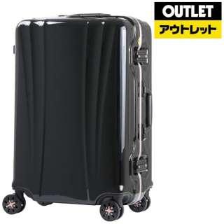 【アウトレット品】 スーツケース 58L FLOWING(フロウィング) ブラック 5101-60-BK [TSAロック搭載] 【再調整品】