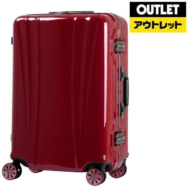【アウトレット品】 スーツケース 58L FLOWING(フロウィング) ワインレッド 5101-60-WR [TSAロック搭載] 【再調整品】