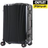 【アウトレット品】 スーツケース 88L FLOWING(フロウィング) ブラック 5101-70-BK [TSAロック搭載] 【再調整品】