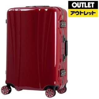 【アウトレット品】 スーツケース 88L FLOWING(フロウィング) ワインレッド 5101-70-WR [TSAロック搭載] 【再調整品】