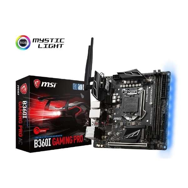 ゲーミングマザーボード MSI B360I GAMING PRO AC [MiniITX]