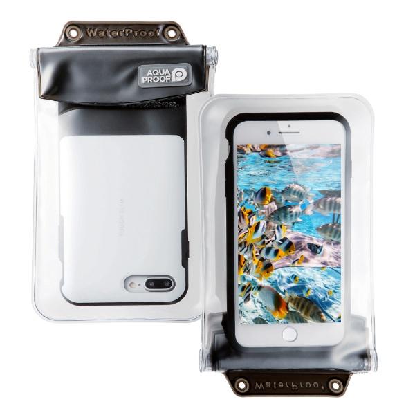 エレコム スマートフォン用防水 防塵ケース オールクリア XLサイズ ブラック P-WPSAC03BK 1個