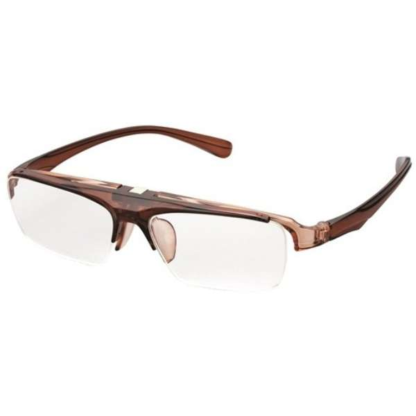 ハネ上げ老眼鏡 コスタード LTシリーズ LT-P301-2 CBR(クリアブラウン/+1.00) LT-P301-2_+1.00 クリアブラウン