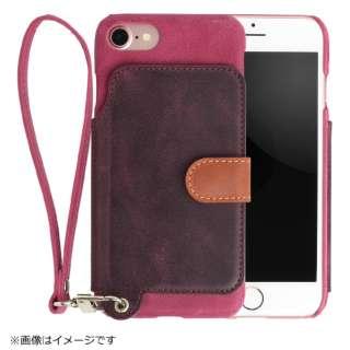 RAKUNI(ラクニ) LeatherCase foriPhone7/8 RAK-Ca7-01-ras ラズベリー RAK-Ca7-01-ras ラズベリー