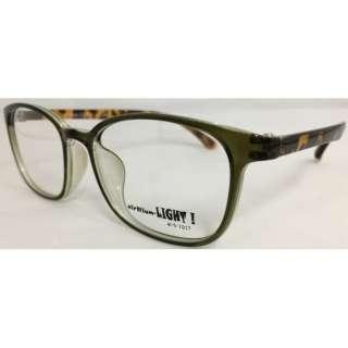 【度無しクリアレンズ】airNium-LIGHT! メガネセット(カーキ×デミブラウン)al5-1017-4[薄型/屈折率1.60/非球面/PCレンズ]