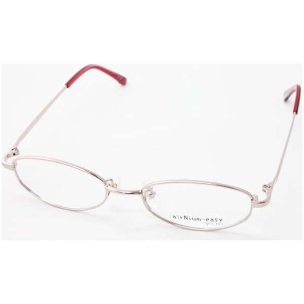 【度無しクリアレンズ】airNium-easy メガネセット(ピンク)ae1-105-2[薄型/屈折率1.60/非球面/PCレンズ]