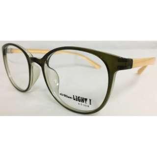【度付き】airNium-LIGHT! メガネセット(カーキ×アイボリー)al5-1018-4[薄型/屈折率1.60/非球面/PCレンズ]