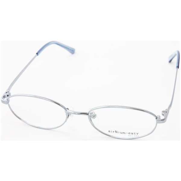 【度付き】airNium-easy メガネセット(ブルー)ae1-104-1[薄型/屈折率1.60/非球面/PCレンズ]