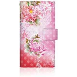 CaseMarket SO-01H スリム手帳型ケース 華の乱舞 和柄 ボタニカル - ピンク SO-01H-BCM2S2477-78