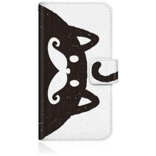 NYAGO iPhone6s スリム手帳型ケース NYAGO ノート しっぽ モノクロ ビッグ ひげ キャット iPhone6s-BNG2S2328-78