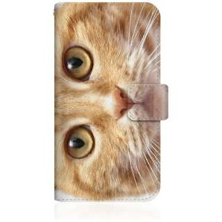 NYAGO iPhone8 スリム手帳型ケース NYAGO ノート キュート 甘えんぼう 茶トラ ペロペロするにゃ~。 猫 お目々 らんらん にゃ にゃんだ? iPhone8-BNG2S2755-78