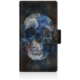 CaseMarket iPod-touch6 スリム手帳型ケース スカル ローズ クロス ブラック スリム ダイアリー iPod-touch6-BCM2S2269-78