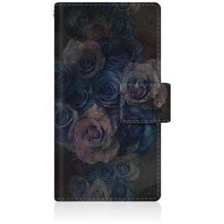 CaseMarket iPod-touch6 スリム手帳型ケース ゴシック ローズ ヴィンテージ ブラック - アーリー ストーン ボタニカル iPod-touch6-BCM2S2473-78