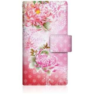CaseMarket iPod-touch6 スリム手帳型ケース 華の乱舞 和柄 ボタニカル - ピンク iPod-touch6-BCM2S2477-78