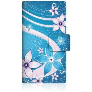 CaseMarket iPod-touch6 スリム手帳型ケース 夏華の乱舞 和柄 ボタニカル iPod-touch6-BCM2S2479-78 蒼花と水流を望む夜