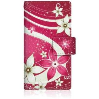 CaseMarket iPod-touch6 スリム手帳型ケース 夏華の乱舞 和柄 ボタニカル iPod-touch6-BCM2S2480-78 紅花と水流を望む夜