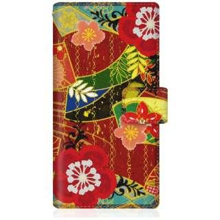CaseMarket iPhoneX スリム手帳型ケース 和柄 大花 スリム ダイアリー iPhoneX-BCM2S2238-78