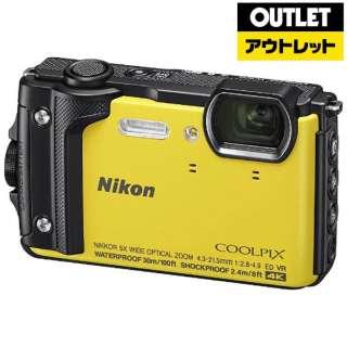 【アウトレット品】 コンパクトデジタルカメラ COOLPIX(クールピクス) [防水+防塵+耐衝撃] W300 イエロー 【展示品】