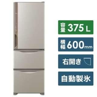 《基本設置料金セット》 R-K38JV 冷蔵庫 Kシリーズ ライトブラウン [3ドア /右開きタイプ /375L]