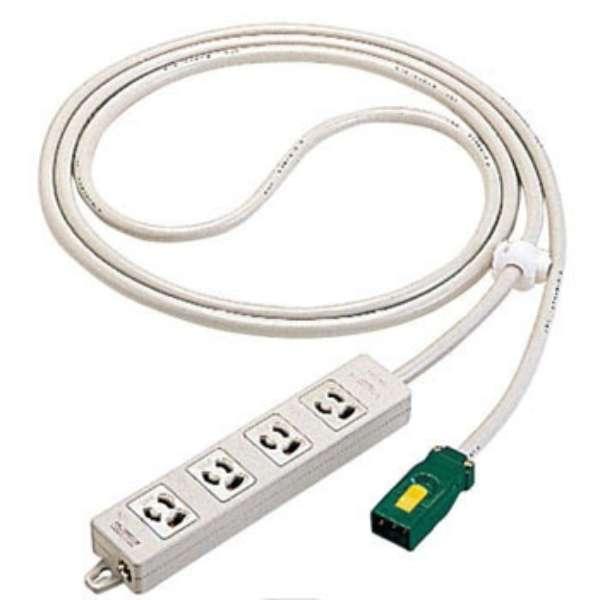 ハーネス用OAタップ キャブタイヤケーブル付(4個口・3m) WFA66347HG グレー