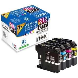 JIT-B2172154P リサイクルインク ジット(ブラザー用) 4色セット
