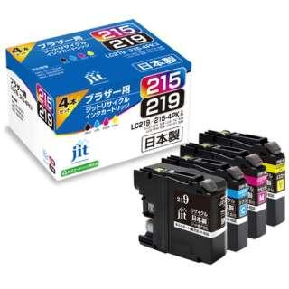 JIT-B2192154P リサイクルインク ジット(ブラザー用) 4色セット