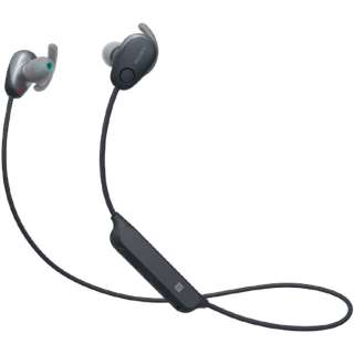 ブルートゥースイヤホン カナル型 ブラック WI-SP600N BM [リモコン・マイク対応 /ワイヤレス(左右コード) /Bluetooth /ノイズキャンセリング対応]