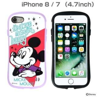 [iPhone 8/7専用]ミッキー90周年限定/ディズニーキャラクターiFace First Class Pastelケース(ミッキーマウス/パープル)