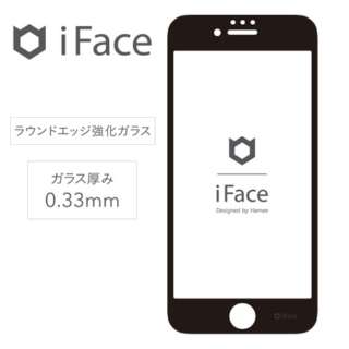 [iPhone 8/7/6s/6専用]iFace Round Edge Color Glass Screen Protector ラウンドエッジ強化ガラス 液晶保護シート(ブラック)