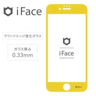[iPhone 8/7/6s/6専用]iFace Round Edge Color Glass Screen Protector ラウンドエッジ強化ガラス 液晶保護シート(イエロー)