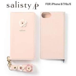 iPhone SE(第2世代)4.7インチ/ iPhone 8/7/6s/6専用 salisty(サリスティ)P フラワースタッズ ダイアリーケース(ベビーピンク)P-DC002C