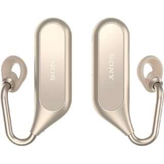 e2ef67a067 ビックカメラ.com | ソニー SONY フルワイヤレスイヤホン Xperia Ear Duo ゴールド XEA20JP [リモコン・マイク対応 / ワイヤレス(左右分離) /Bluetooth] 通販